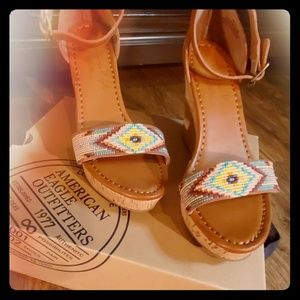 American Eagle - Wedge w/ colorful beading detail